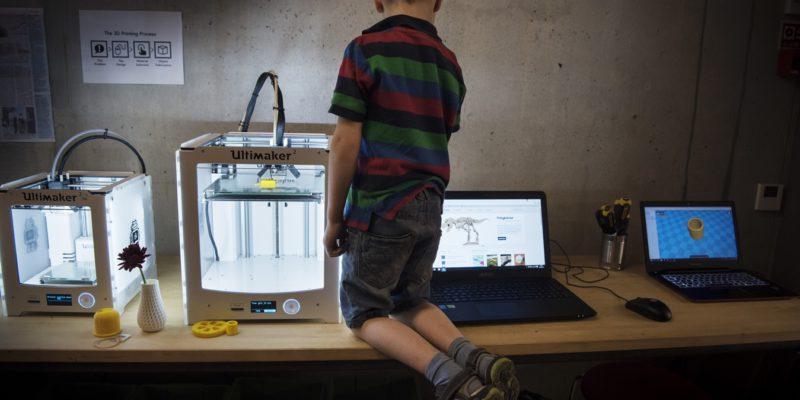 Spennende med 3D-modellering! Foto: Marie von Krogh