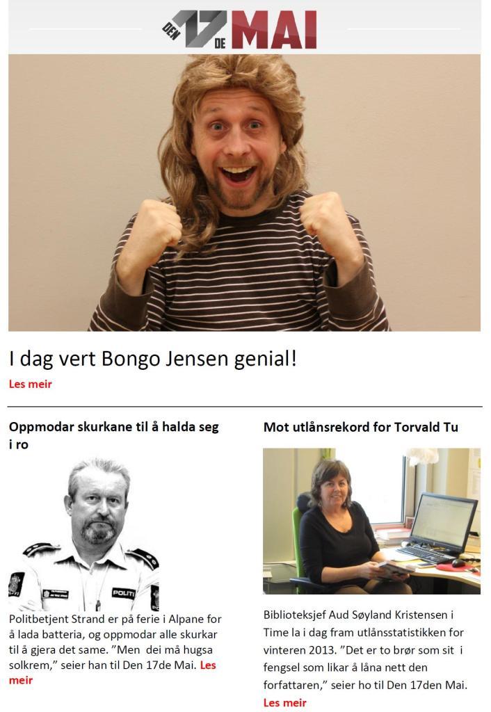 Bongo Jensen vert genial
